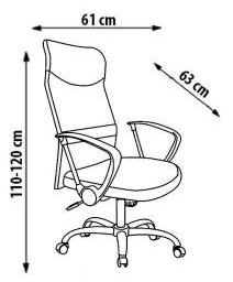 Biuro kėdės vire matmenys
