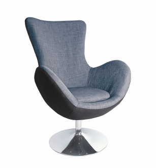 BUTTERFLY leisure chair, color: grey