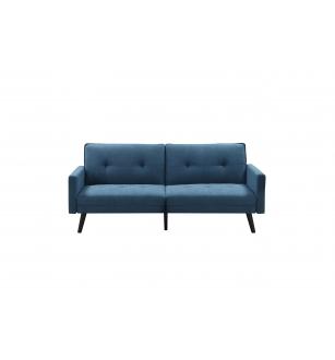 CORNER folding sofa with ottoman, color: blue