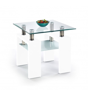DIANA H KWADRAT coffee table color: white