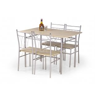 FAUST set + 4 chairs color: sonoma oak