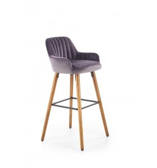 H93 bar stool, color: dark grey