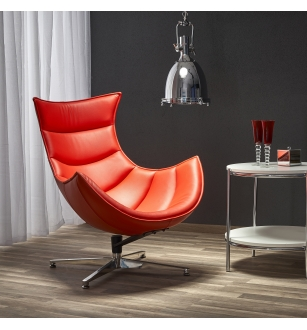 LUXOR leisure chair, color: red