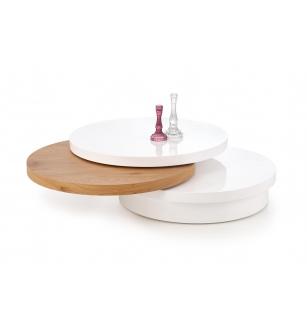 MICHELLE c. table, color: white / golden oak