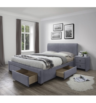 MODENA 3 bed with drawers, color: grey