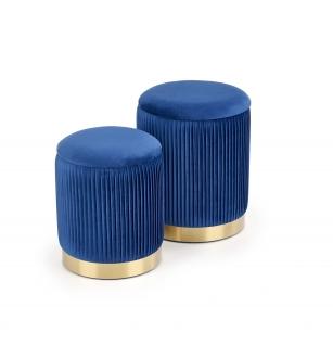 MONTY set of two stools: color: dark blue