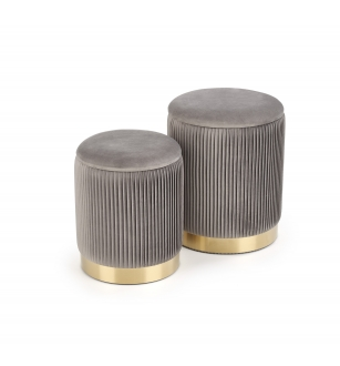 MONTY set of two stools: color: grey