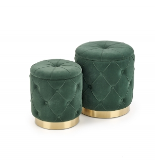 POLLY set of two stools, color: dark green
