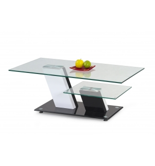 SAVANA coffee table color: white/black
