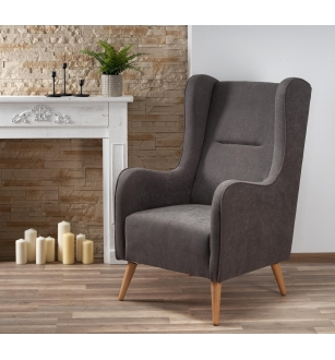 CHESTER leisure chair, color: dark grey