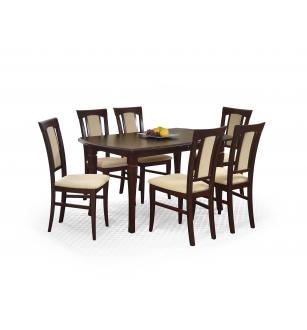 FRYDERYK 160/240 cm extension table color: dark walnut