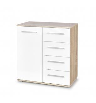LIMA KM-2 chest, color: sonoma oak / white