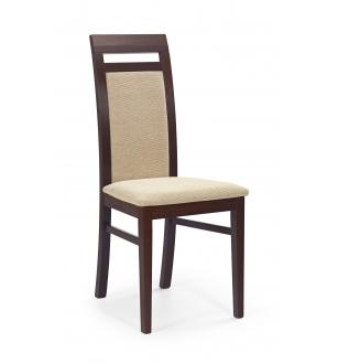 ALBERT chair color: dark walnut/TORENT BEIGE