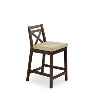 BORYS LOW bar stool, color: dark walnut / VILA 2
