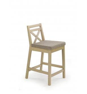 BORYS LOW bar stool, color: sonoma oak / INARI 23