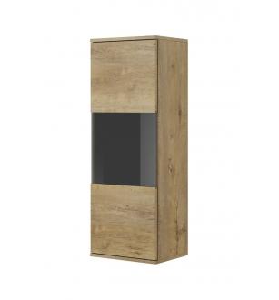 NEST W-1 display cabinet color: lefkas oak / black