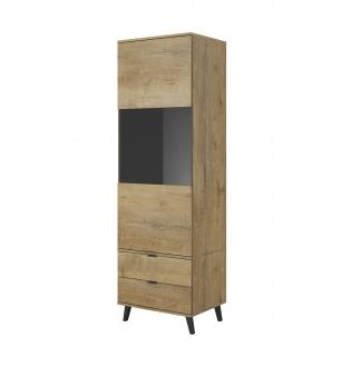 NEST W-2 display cabinet color: lefkas oak / black