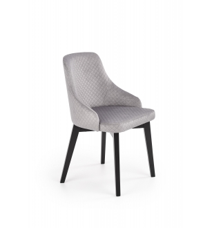 TOLEDO 3 chair, color: quilted velvet Karo 4 - MONOLITH 85