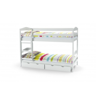 SAM bunk bed with mattresses color: white
