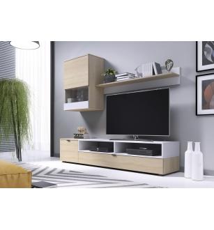 SNAP, wall set color: sonoma oak / white matt
