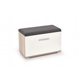 LIMA ST2 shoe cabinet white / sonoma oak