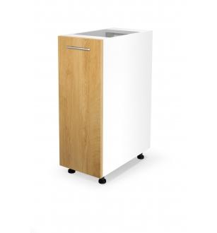 VENTO D-30/82 lower cabinet, color: white / honey oak