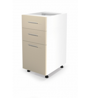 VENTO DS3-40/82 lower cabinet with drawers, color: white / beige