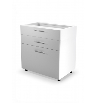 VENTO DS3-80/82 lower cabinet with drawers, color: white