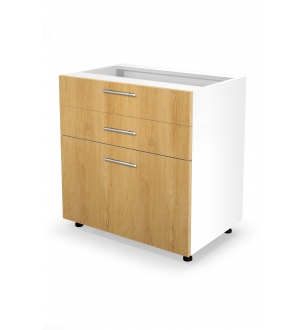 VENTO DS3-80/82 lower cabinet with drawers, color: honey oak