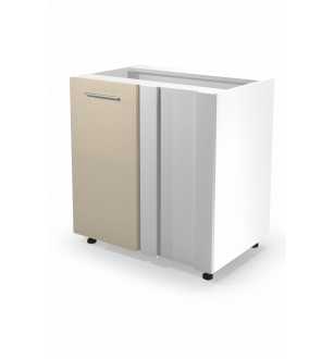 VENTO DN-100/82 corner lower cabinet, color: white / beige