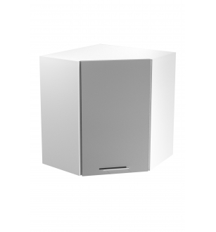 VENTO GN-60/72 corner top cabinet, color: white / light grey