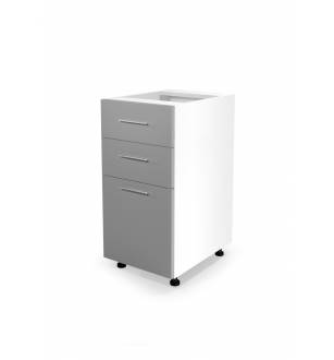 VENTO DS3-40/82 lower cabinet with drawers, color: white / light grey