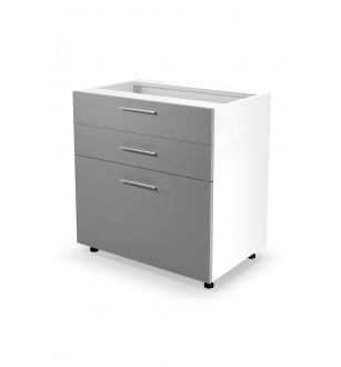 VENTO DS3-80/82 lower cabinet with drawers, color: light grey