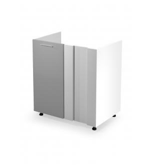 VENTO DK-80/82 corner sink cabinet, color: white / light grey
