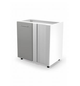 VENTO DN-100/82 corner lower cabinet, color: white / light grey