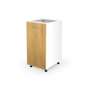 VENTO D-40/82 lower cabinet, color: white / honey oak