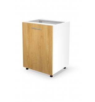 VENTO D-60/82 lower cabinet, color: white / honey oak