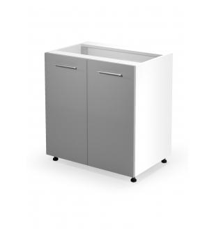 VENTO D-80/82 lower cabinet, color: white / light grey