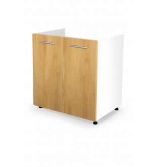 VENTO DK-80/82 sink cabinet, color: white / honey oak
