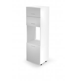VENTO DP-60/214 high cargo cabinet, color: white / honey oak