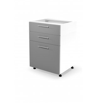 VENTO DS3-60/82 lower cabinet with drawers, color: white / light grey