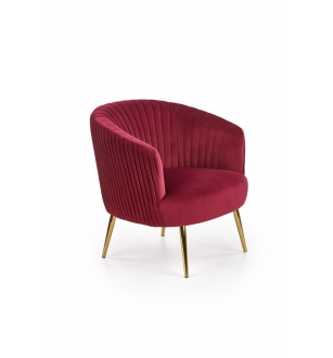 CROWN l. chair, color: dark red
