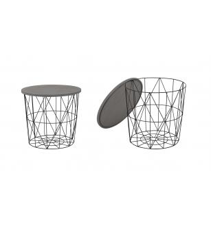 MARIFFA c. table, color: grey / black