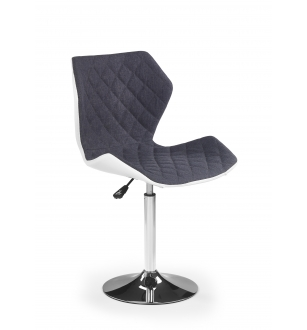 MATRIX 2 bar stool, color: white / grey
