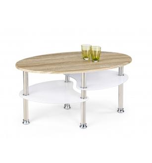 MEDEA coffee table color: sonoma oak/extra white
