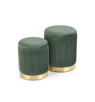 MONTY set of two stools: color: dark green