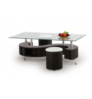 NINA coffee table color: wenge