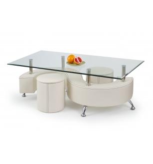 NINA 3 H coffee table color: white