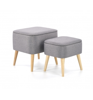 PULA set of two stools, color: grey