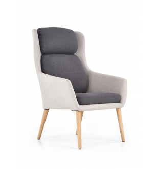 PURIO leisure chair, color: light grey / dark grey
